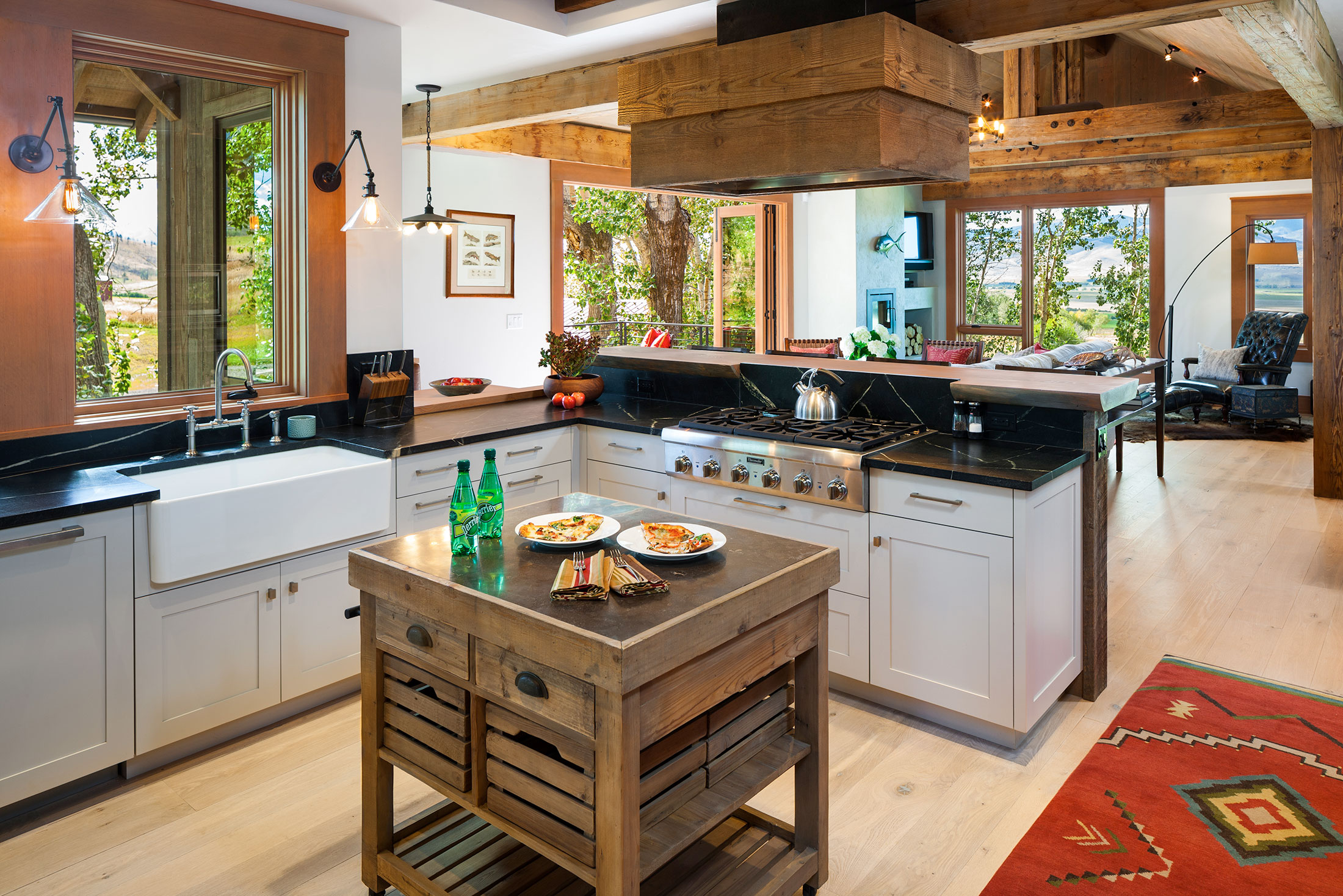residential lazy heart ranch kitchen design